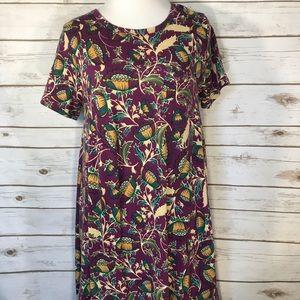 LuLaRoe XXS Floral Carly Dress EUC